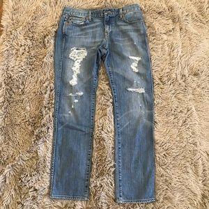 J. Crew Distressed Boyfriend Jeans